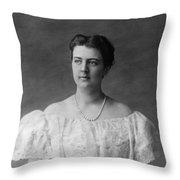 Frances Folsom Cleveland (1864-1947) Throw Pillow