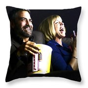 Frances Mcdormand And George Clooney @ Burn After Reading Throw Pillow