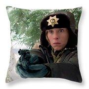 Frances Mcdormand As Marge Gunderson In The Film Fargo By Joel And Ethan Coen Throw Pillow