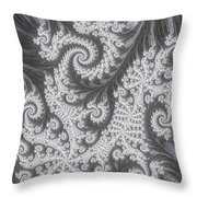 Franciful Frost  Throw Pillow
