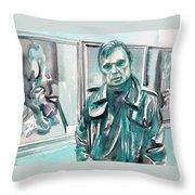 Francis Bacon Watercolor Portrait.3 Throw Pillow