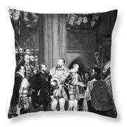 Francis I & Charles V Throw Pillow