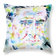 Francis Picabia - Watercolor Portrait Throw Pillow