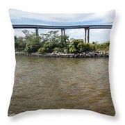 Francis Scott Key Bridge - Pano Throw Pillow