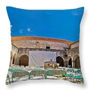 Franciscian Monastery In Hvar Panorama Throw Pillow