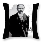 Francisco  Madero Portrait No Location Or Date-2013 Throw Pillow