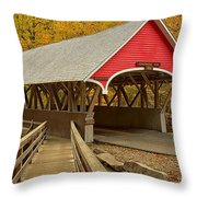 Franconia Notch Flume Gorge Bridge Throw Pillow