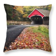 Franconia Notch State Park Throw Pillow