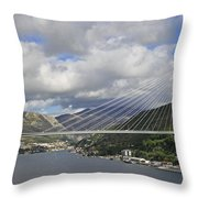 Franjo Tudman Bridge Throw Pillow
