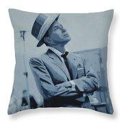 Frank Black And White Throw Pillow