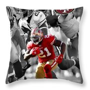 Frank Gore 49ers Throw Pillow by Joe Hamilton