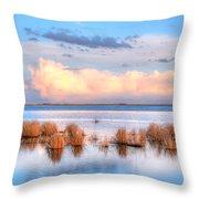 Frank Lake Alberta Throw Pillow