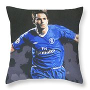 Frank Lampard - Chelsea Fc Throw Pillow