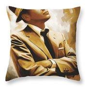 Frank Sinatra Artwork 1 Throw Pillow