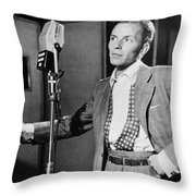 Frank Sinatra Throw Pillow by Mountain Dreams