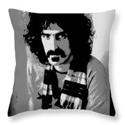 Frank Zappa - Chalk And Charcoal 2 Throw Pillow by Joann Vitali