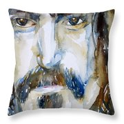 Frank Zappa Watercolor Portrait.2 Throw Pillow