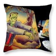 Franken Shade Throw Pillow