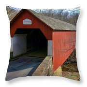 Frankenfield Covered Bridge Throw Pillow