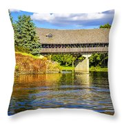 Frankenmuth Covered Bridge Throw Pillow