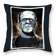 Frankenstein Boris Karloff Throw Pillow