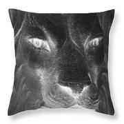 Frankie Lion Negative Throw Pillow