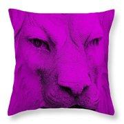 Frankie Lion Purple Throw Pillow