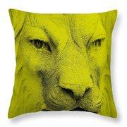 Frankie Lion Yellow Throw Pillow