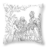 Franklin & Voltaire Throw Pillow
