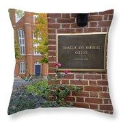 Franklin And Marshall  Throw Pillow