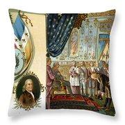 Franklin At Versailles Throw Pillow