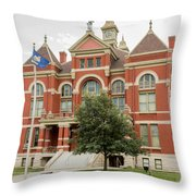 Franklin County Courthouse 2 Throw Pillow