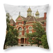 Franklin County Courthouse 3 Throw Pillow