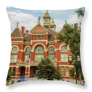 Franklin County Courthouse 4 Throw Pillow
