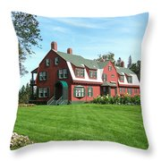 Franklin D. Roosevelts Beloved Island Campobello Throw Pillow by Edward Fielding