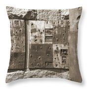 Franklin Delano Roosevelt Memorial - Bits And Pieces 2 Throw Pillow