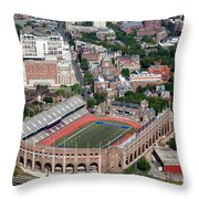 Franklin Field University City Pennsylvania Throw Pillow by Bill Cobb