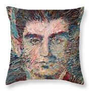 Franz Kafka Oil Portrait Throw Pillow