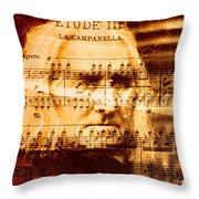 Franz Liszt Throw Pillow