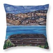 Fraser River British Columbia Throw Pillow