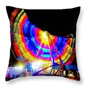 Freak Out ... Electric Rainbow Throw Pillow