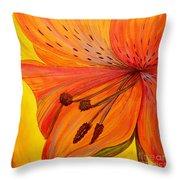 Freckles On Orange Throw Pillow
