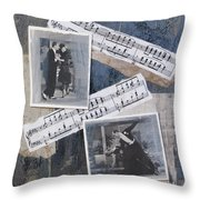 Fred And Ginger Collage Throw Pillow