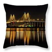 Fred Hartman Bridge Throw Pillow
