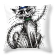 Fred The Cat Throw Pillow