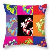 Freddie Mercury Pop Art Throw Pillow