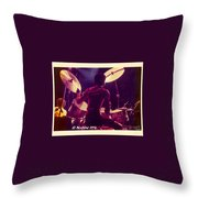 Freddie White Playing Drums Spirit Tour Throw Pillow