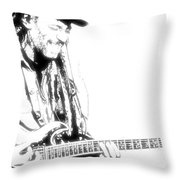 Freddy And His Guitar Throw Pillow