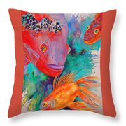 Freddy Fish And Friends Throw Pillow