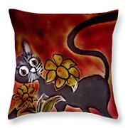 Freddy The Cat Throw Pillow